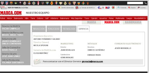 Equipo MARCA.COM Jesus Moradillo Comercio Electrónico