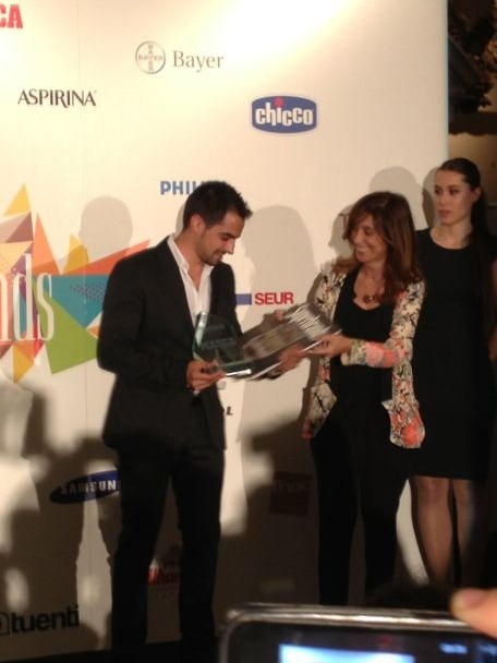Jesus Moradillo recogiendo Superbrands 2013 MARCA