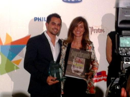 Jesus Moradillo recogiendo Superbrands 2013